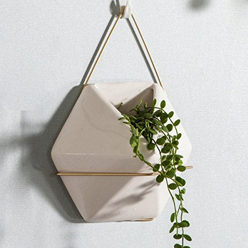 Hexagonal Hanging Planter from ObJae