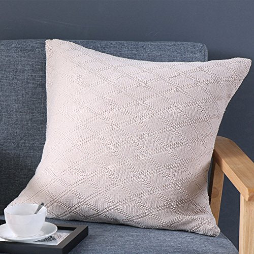 Diamond Grid Pillow Cover - Beige from ObJae