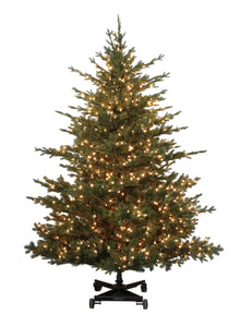 7.5' Clear Light Siberian Fir Artificial Christmas Tree, Easy Store On Wheels from ObJae