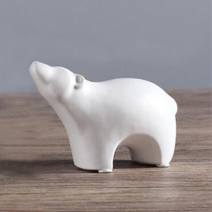 Glacier Ceramic Bear Figurine from ObJae