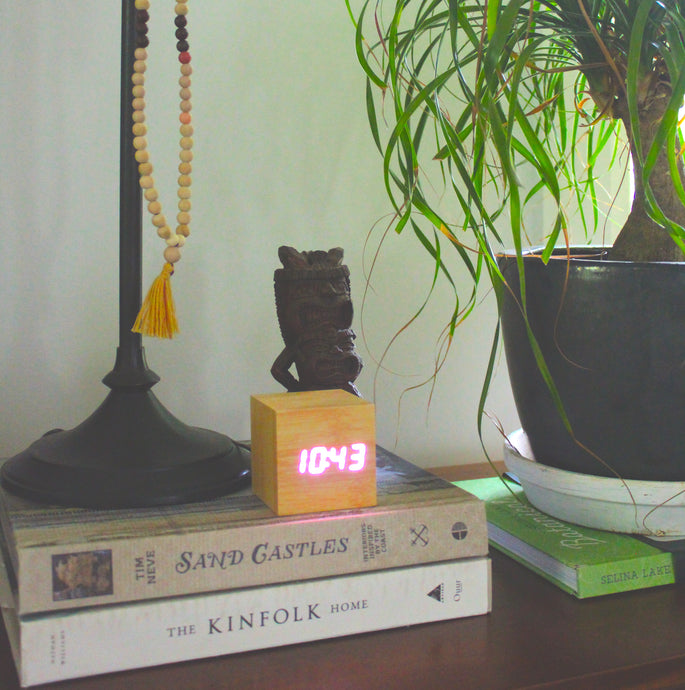 Acoustic Control LED Clock from ObJae