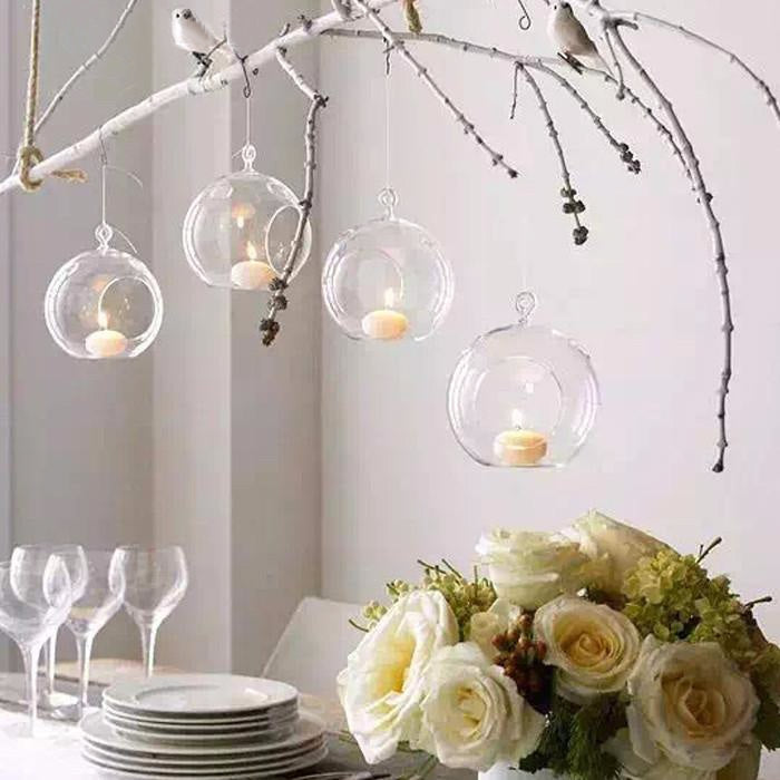 Orbital Hanging Glass Globes (Set of 10)