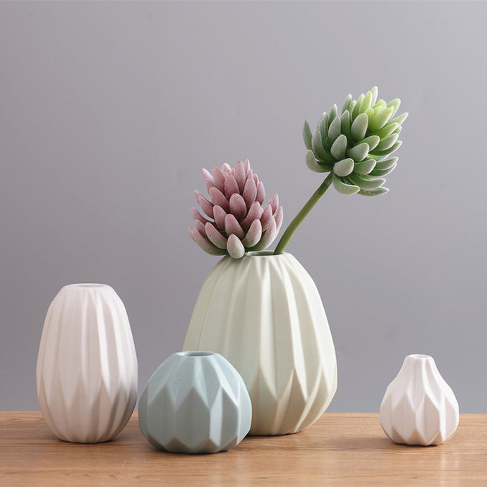 Eivor Pleated Ceramic Vase from ObJae