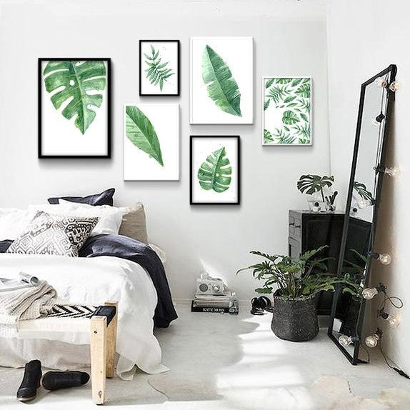 Equatorial Leaf Canvas Prints from ObJae