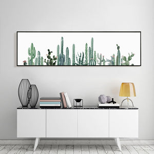 Kaktos Panoramic Canvas Print from ObJae