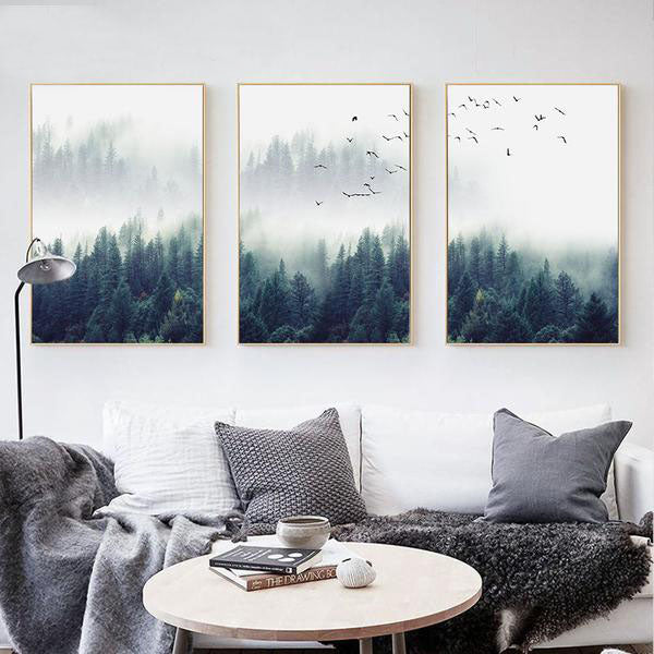 Coniferous Canvas Prints (Set of 3) from ObJae