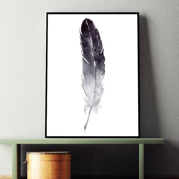 Graceful Feather Canvas Print from ObJae