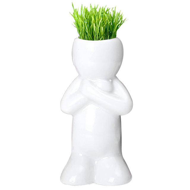 Mini Man Doll Flower Pot from ObJae