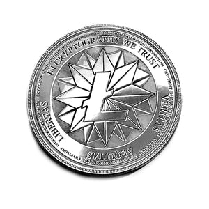 Laser Engraved Silver Physical Litecoin Wallet