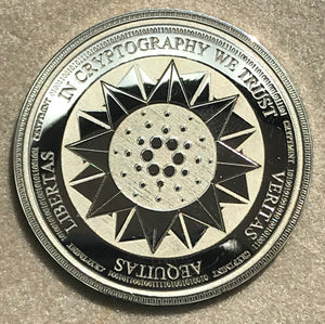 Laser Engraved Silver Physical Cardano Coin