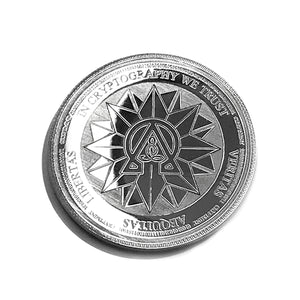 Laser Engraved Silver Physical Ohmcoin Wallet