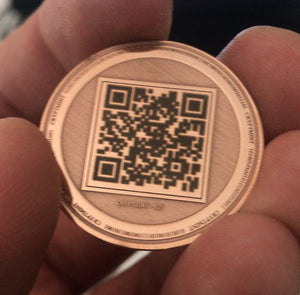 Official Pinkcoin Laser Engraved Rose Gold Plated Physical Wallet