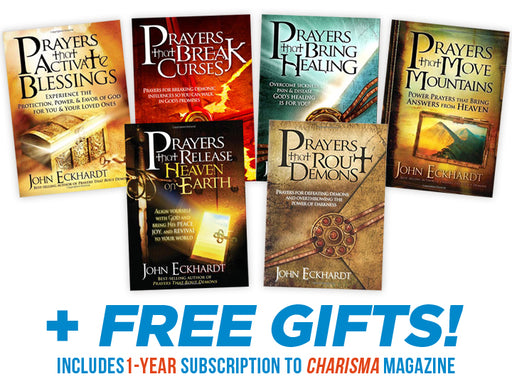 John Eckhardt's Six Book Prayer Series : FREE BONUS! Solid Rock Series + Charisma Magazine 1-Year Print Subscription