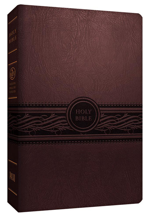 MEV Bible Personal Size Large Print Cherry Brown : Modern English Version