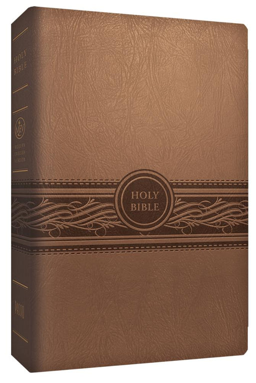 MEV Bible Personal Size Large Print Tan : Modern English Version