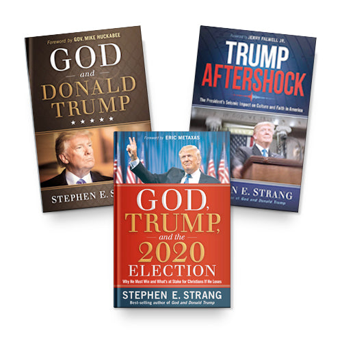Stephen E. Strang Autograph 3 Book Offer : God, Trump, and the 2020 Election + Trump Aftershock + God and Donald Trump