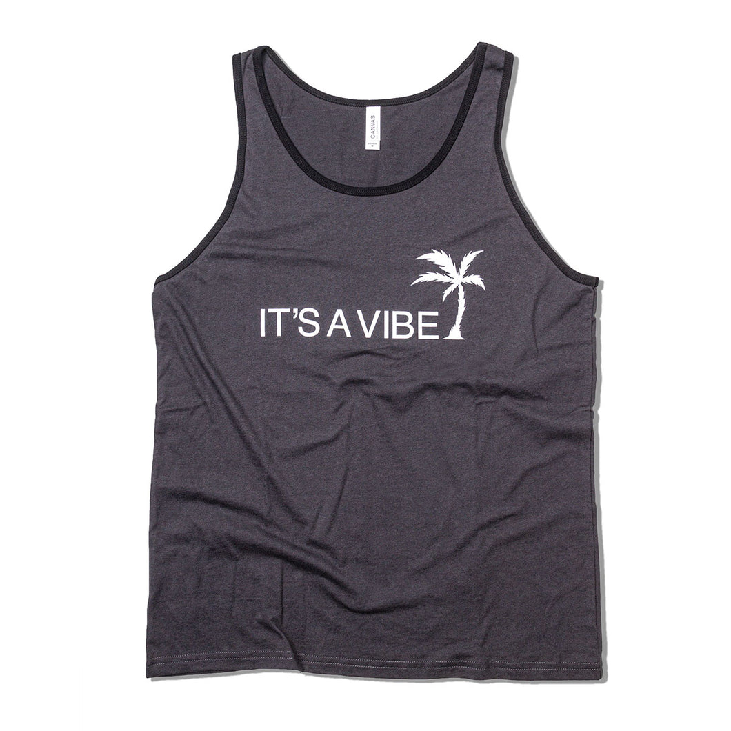 IT'S A VIBE - CHARCOAL tank top