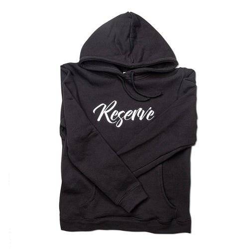 Reserve Embroidered Hoodie - Black