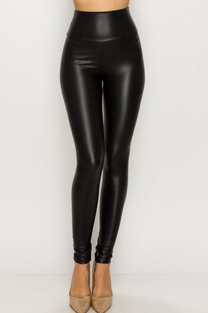 High Waisted Faux Leather Leggings