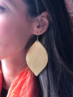 Metallic Tear Drop Earring