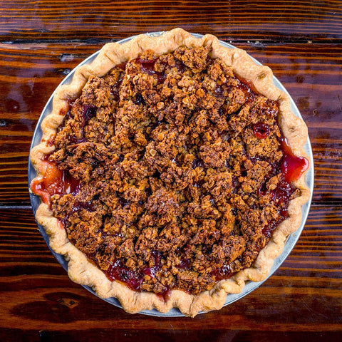 Mandarin Orange Cherry Crunch Pie