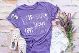 Love is Love Pride Tee White Design
