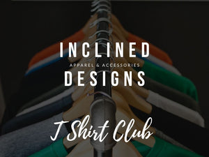 Inclined Designs Womens TShirt Club Subscription