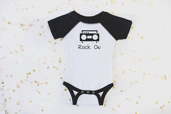 Rock On Raglan Toddler Tee or Infant Bodysuit