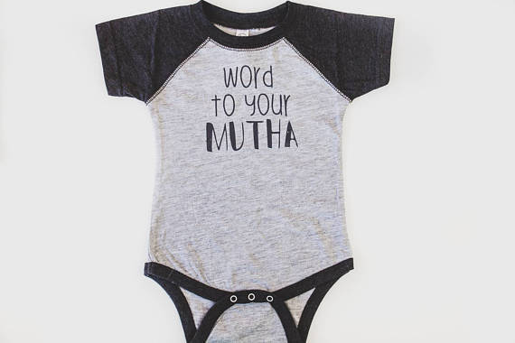 Word To Your Mutha Raglan Bodysuit