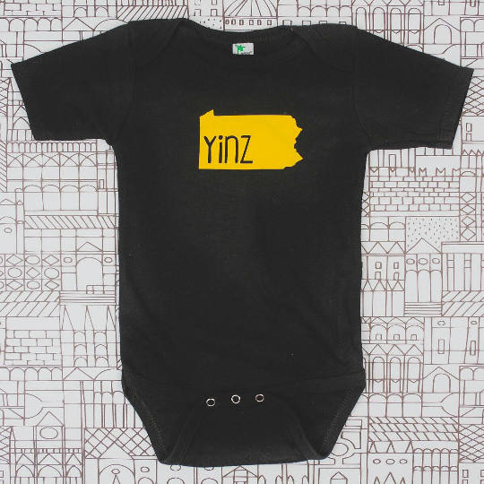 SALE- Yinz Pittsburgh Toddler Tee or Infant Bodysuit