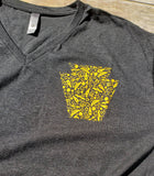 Womens Keystone V-Neck Tee - Pittsburgh Tee- Keystone Shirt