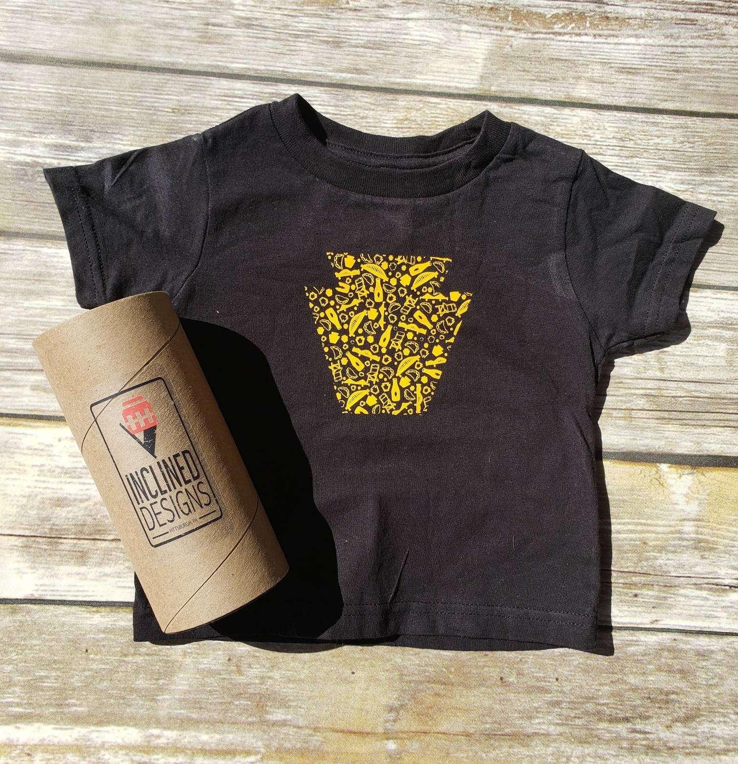 PIttsburgh Keystone Burgh Bits Tee or Bodysuit- Infants and Toddlers