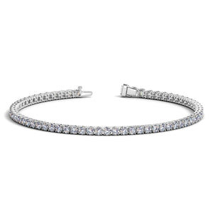 14K White Gold Round Diamond Tennis Bracelet (3 ct. tw.)