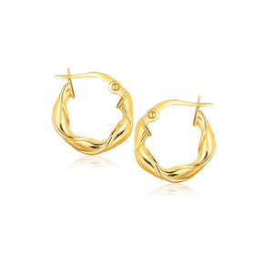 14K Yellow Gold Hoop Earrings (5/8 inch)