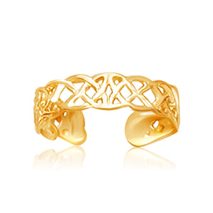 14K Yellow Gold Toe Ring in a Celtic Knot Style - Uniquepedia.com