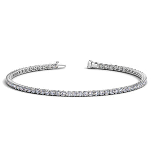 14K White Gold Round Diamond Tennis Bracelet (2 ct. tw.)