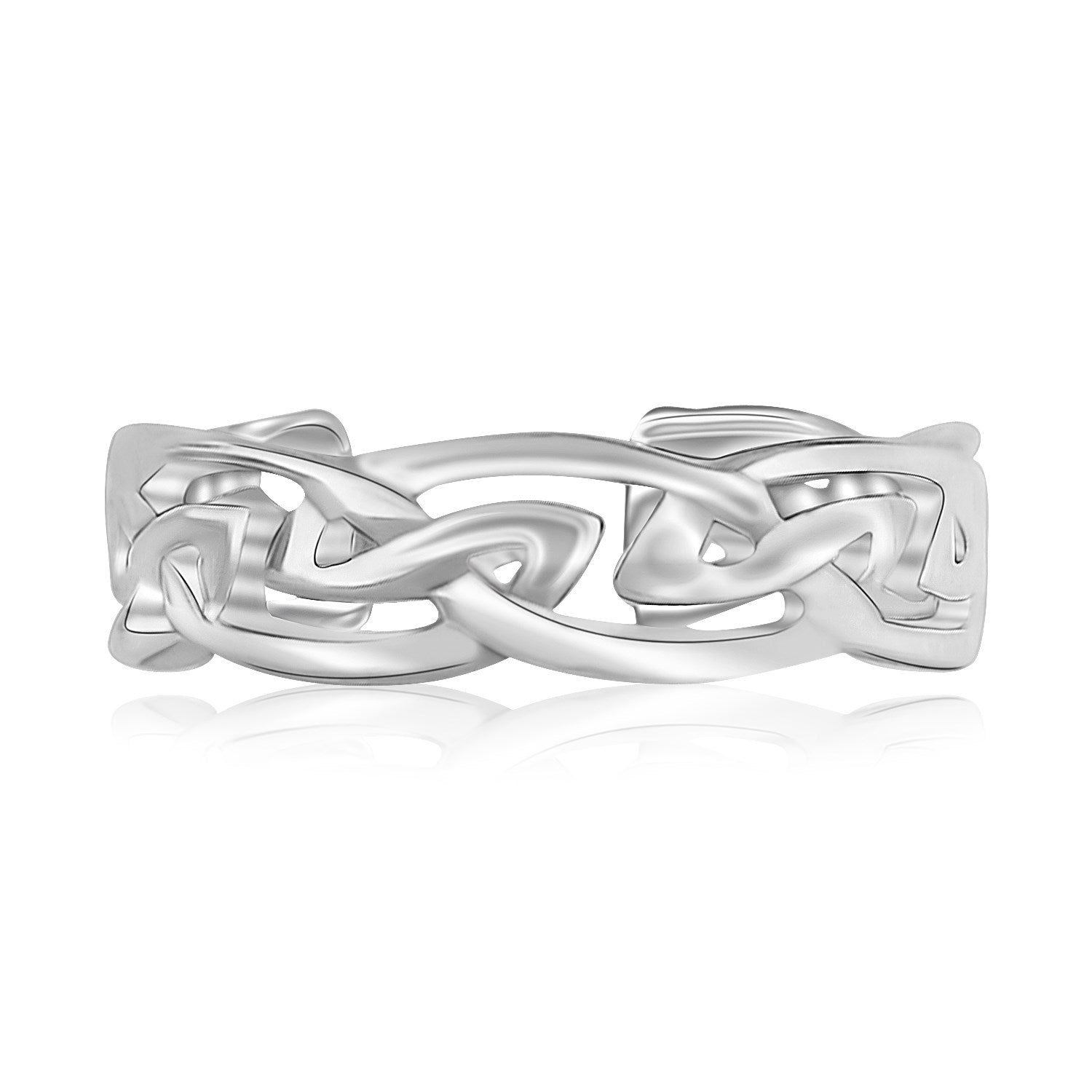 Sterling Silver Rhodium Plated Celtic Style Toe Ring - Uniquepedia.com