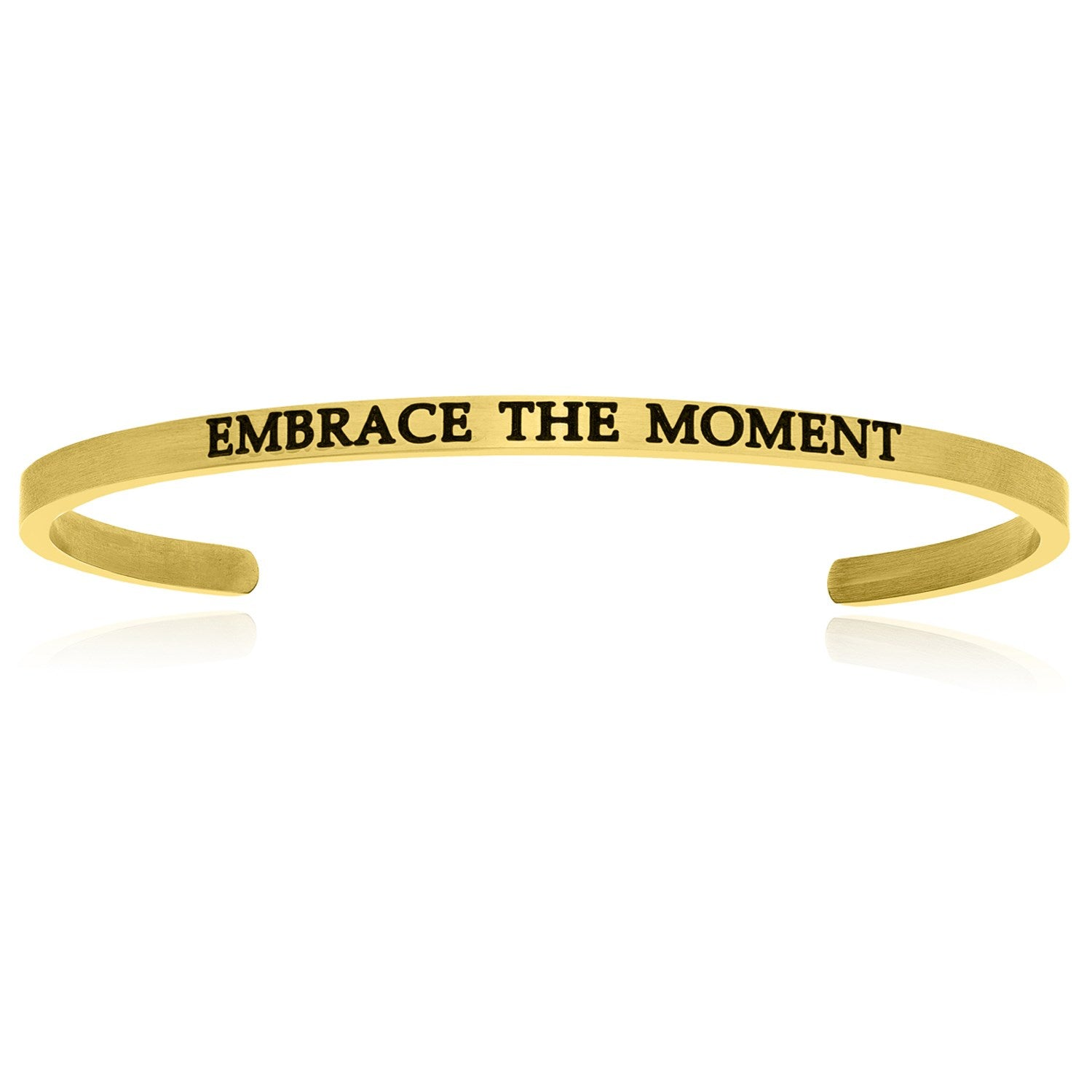 Yellow Stainless Steel Embrace The Moment Cuff Bracelet
