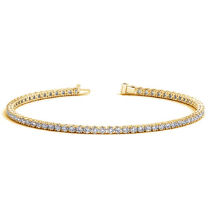14K Yellow Gold Round Diamond Tennis Bracelet (2 ct. tw.)