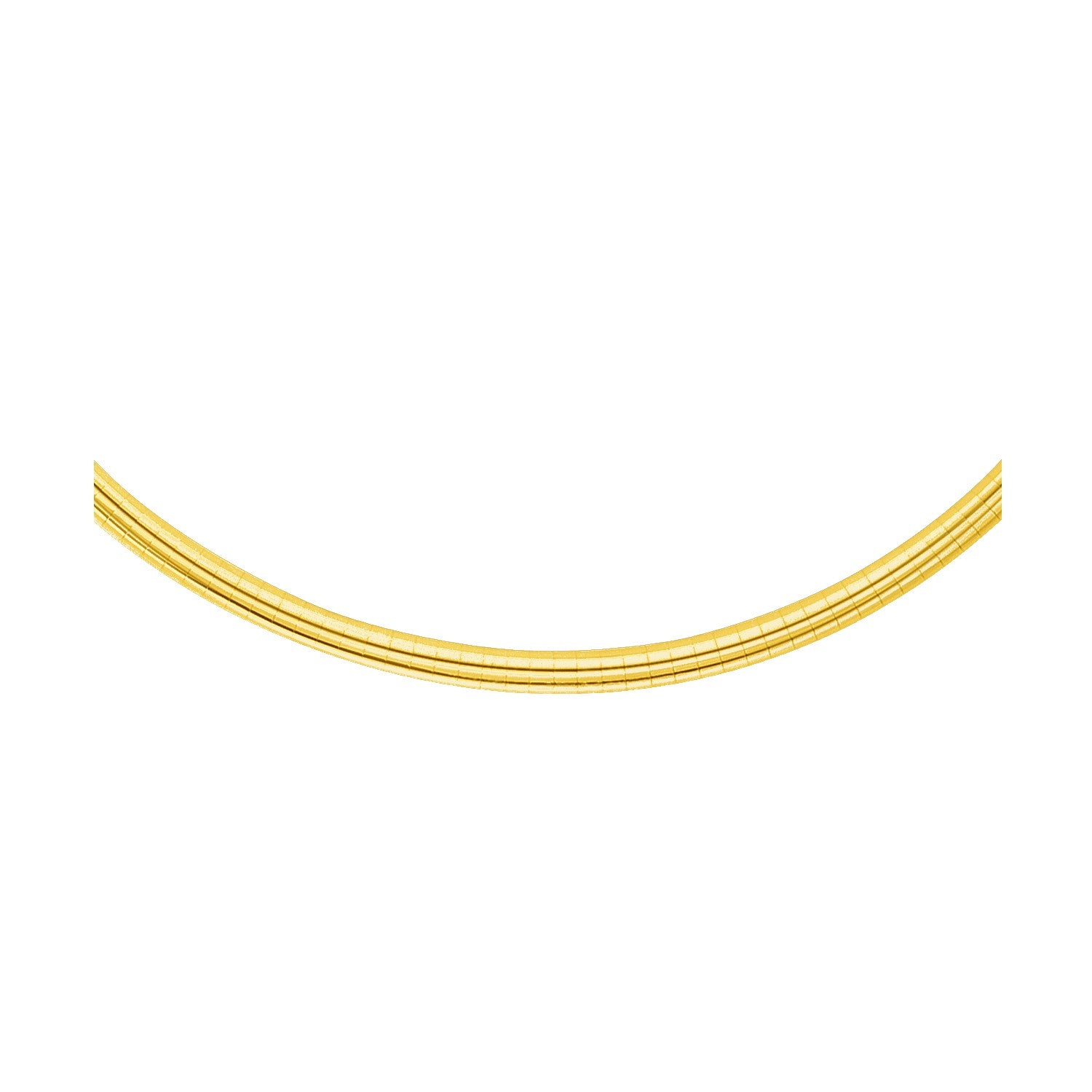 4.0 mm 14K Yellow Gold Classic Omega Bracelet