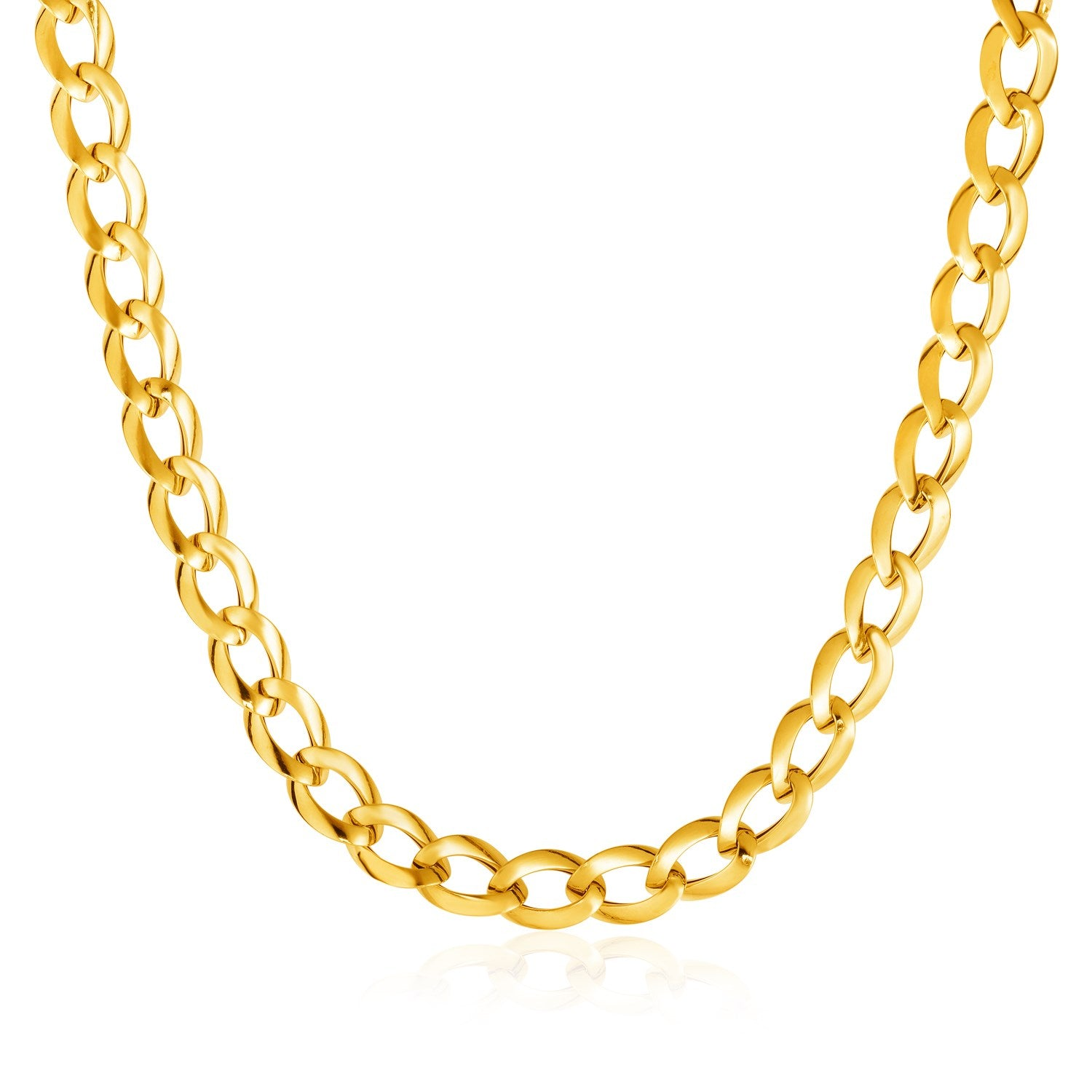 14K Yellow Gold Curb Style Necklace