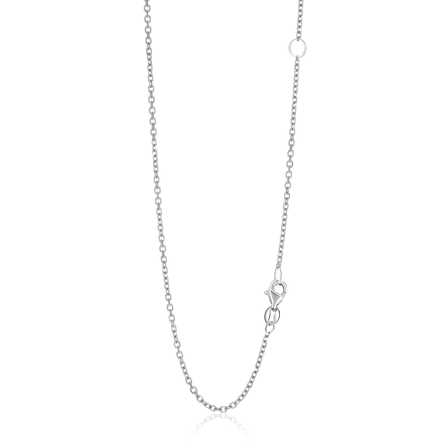 1.5mm 14K White Gold Adjustable Cable Chain