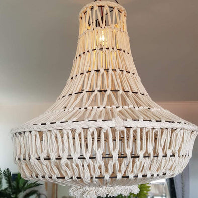 Woven Macrame Ceiling Lamp Shades
