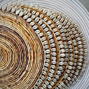 Natural Woven Banana Leaf Round Dining Placemats With Shells