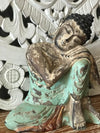 Antique Resting Wooden Buddha - Canggu & Co