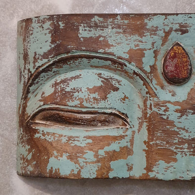 Antique Wooden Buddha Mask Wall Hanging - Canggu & Co