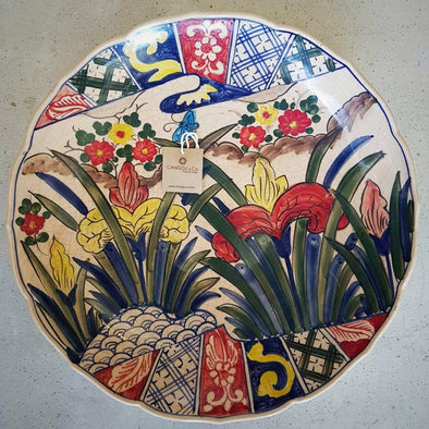 Large Hand Painted Ceramic Serving Dishes