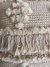 Natural Macrame Cushions With Mini-Poms - Canggu & Co