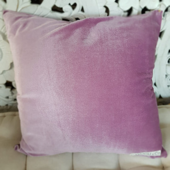 Gold & Purple Velour Cushions - Canggu & Co