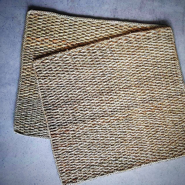 Natural Woven Grass Straw Rectangular Dining Placemats - Canggu & Co